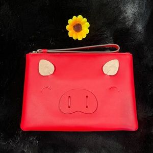 Kate Spade ♠️ Year of the Pig Red Clutch Wristlet